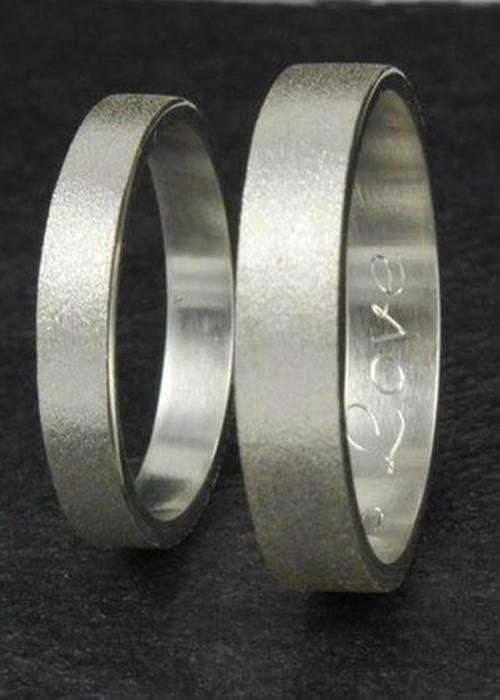 Nhẫn đôi bạc cao cấp NS254