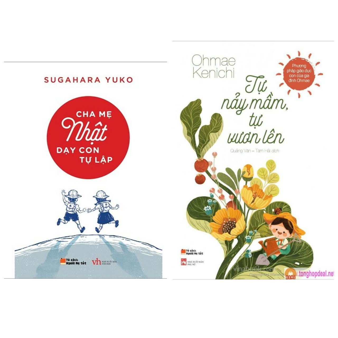 Sách nuôi dậy con hay : Cha Mẹ Nhật Dạy Con Tự Lập + Tự Nảy Mầm, Tự Vươn Lên (Tặng kèm Bookmark Happy Life)