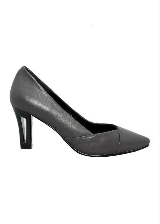 Giày Cao Gót Nữ Da Bò Elmi ESW60 - Xám (Size 37)