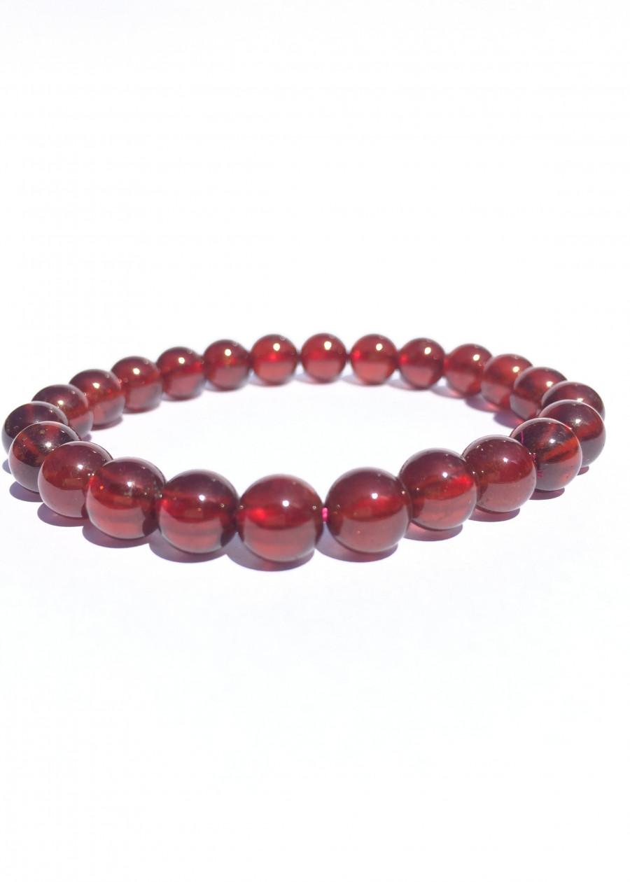 Vòng Tay Đá Garnet Đỏ Huyết -Ngọc Hồng Lựu đỏ - NEJA Gemstones