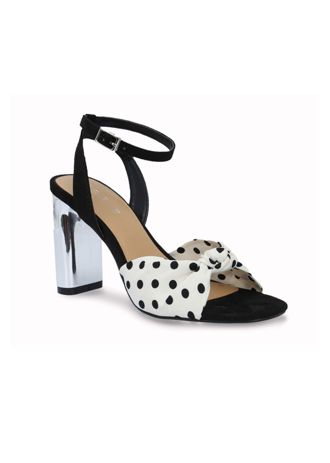Giày sandals cao gót quai ngang thắt nơ S21020