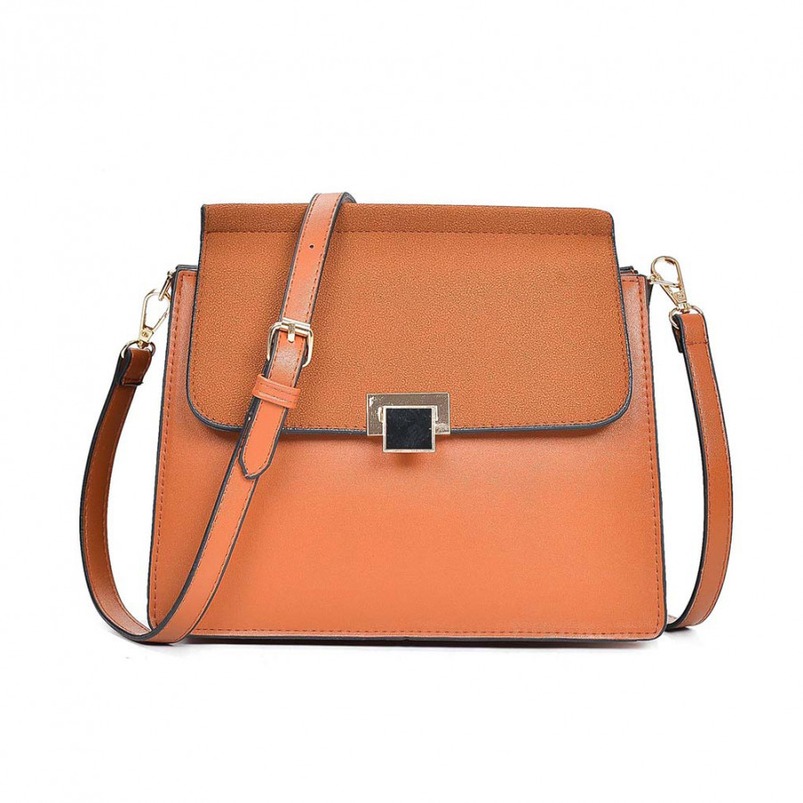Women PU Leather Crossbody Bag Flap Front Casual Mini Shoulder Bag Messenger Bag