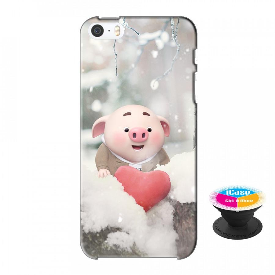 Ốp lưng nhựa dẻo dành cho iPhone 5S tặng popsocket in logo iCase - in hình Heo Con Mùa Đông - 18550454 , 3568868607528 , 62_20550382 , 200000 , Op-lung-nhua-deo-danh-cho-iPhone-5S-tang-popsocket-in-logo-iCase-in-hinh-Heo-Con-Mua-Dong-62_20550382 , tiki.vn , Ốp lưng nhựa dẻo dành cho iPhone 5S tặng popsocket in logo iCase - in hình Heo Con Mùa