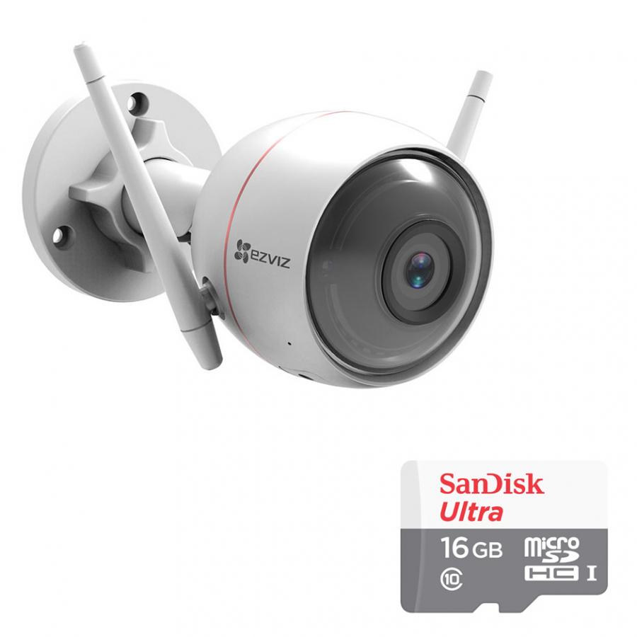 Camera Wifi Ngoài Trời  EZVIZ Husky Air CS-CV310 1080p 2.0MP Và Thẻ Nhớ 16GB - Tặng Kèm Tai Nghe Bluetooth