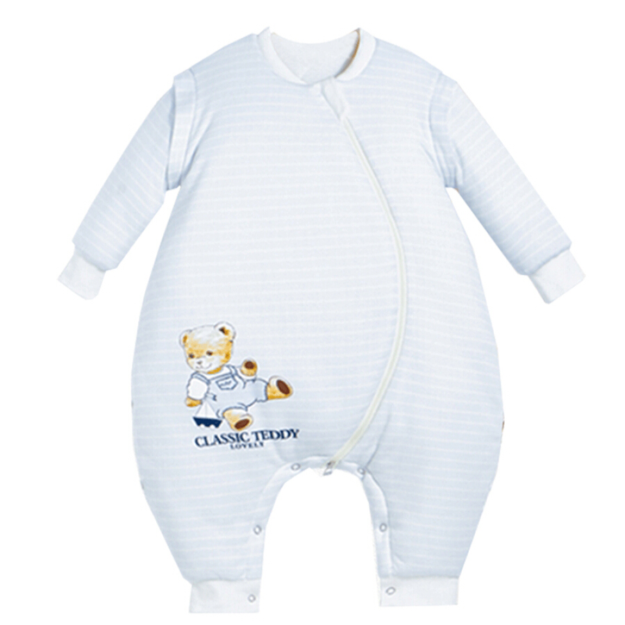 Classic Teddy Baby cotton autumn and winter sleeping bag 240g after 150g quilted detachable sleeves leg kick-proof is light blue stripes 80cm - 772378 , 3428563857225 , 62_9034674 , 697000 , Classic-Teddy-Baby-cotton-autumn-and-winter-sleeping-bag-240g-after-150g-quilted-detachable-sleeves-leg-kick-proof-is-light-blue-stripes-80cm-62_9034674 , tiki.vn , Classic Teddy Baby cotton autumn and w
