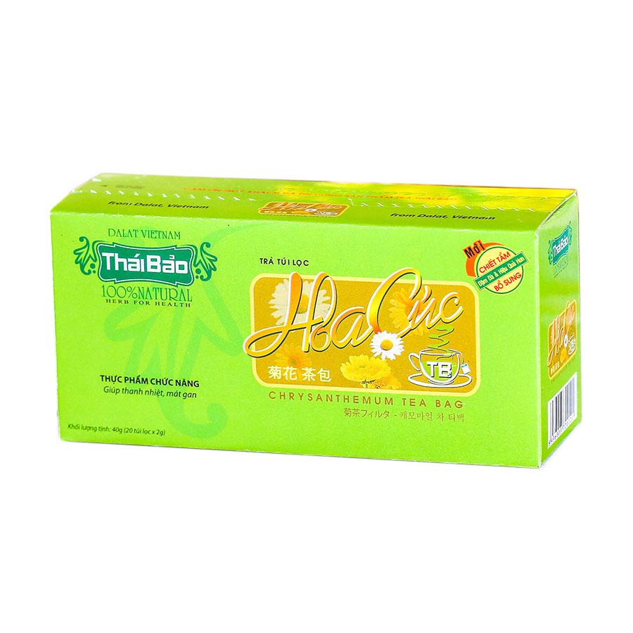 Hộp Trà Hoa Cúc Túi Lọc Thái Bảo mẫu xanh (20 Tép x 2g)