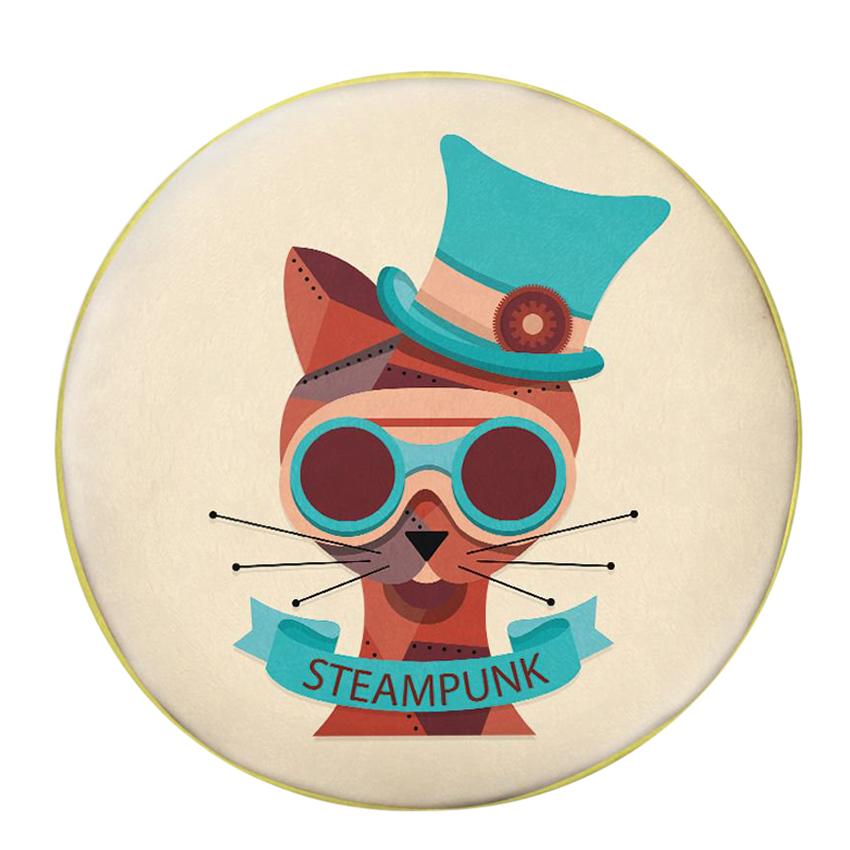Gối Ôm Tròn Mèo Steampunk - GOAA260