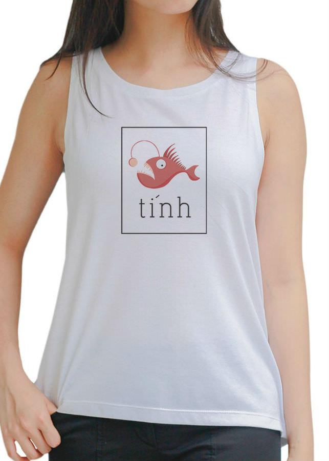 Áo Tanktop Nữ Fish 1 - Trắng