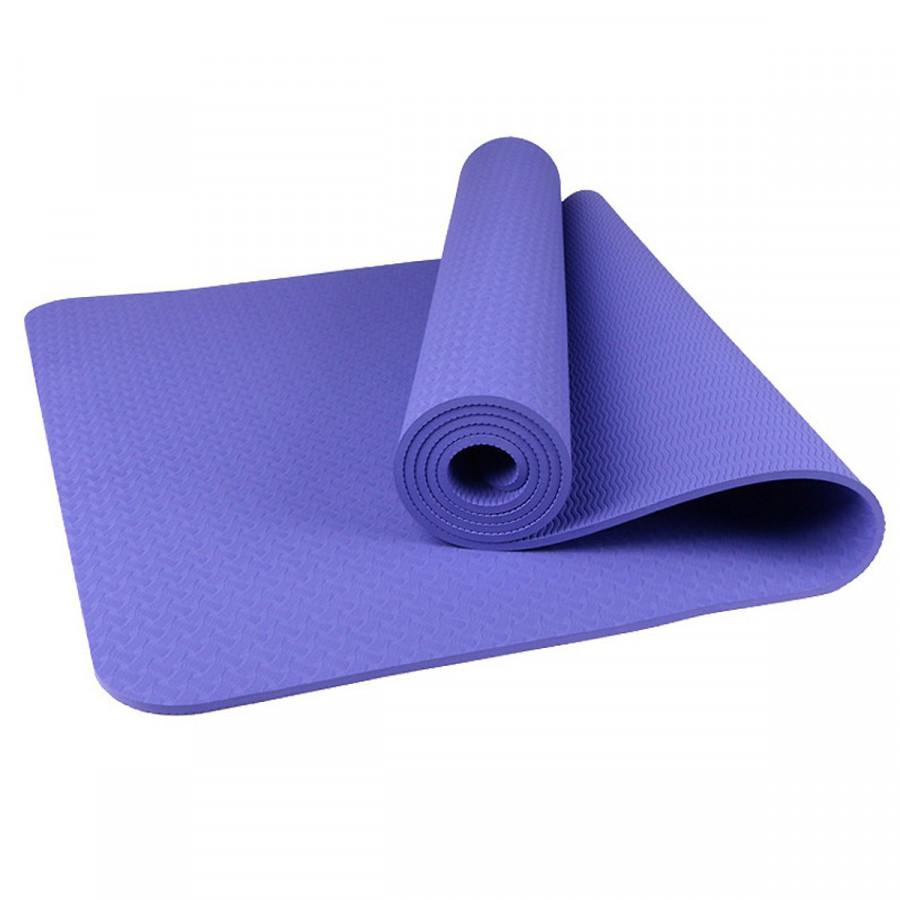 Thảm tập yoga Đại Nam Sport TPE 8mm (Xanh tím) + Tặng túi đựng thảm và dây buộc thảm