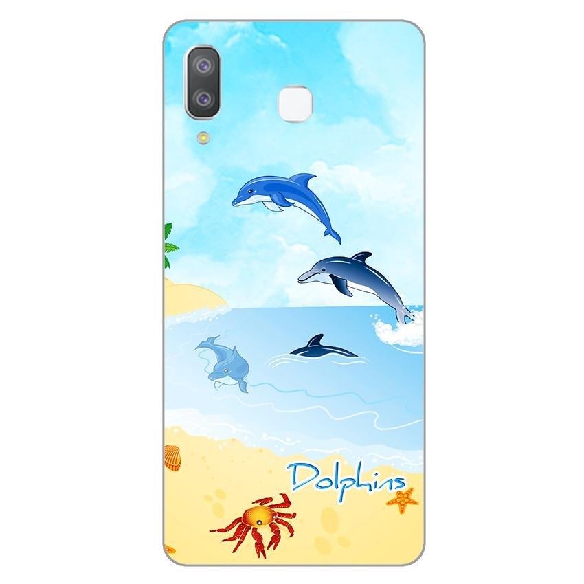 Ốp lưng dành cho điện thoại Samsung Galaxy A7 2018/A750 - A8 STAR - A9 STAR - A50 - Dolphins 01