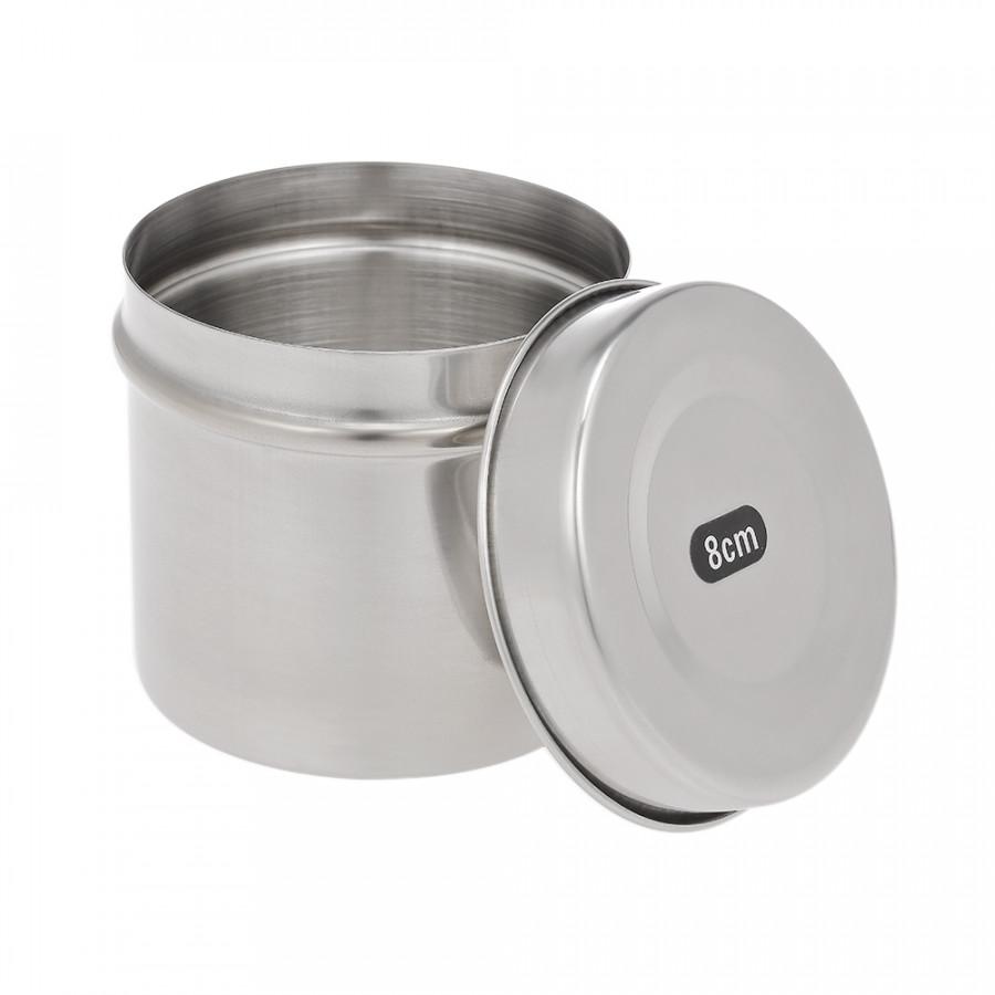 8cm Stainless Steel Dental Box Holder Disinfection Case for Medical Cotton Ball Gauze Dressing Dental Accessory