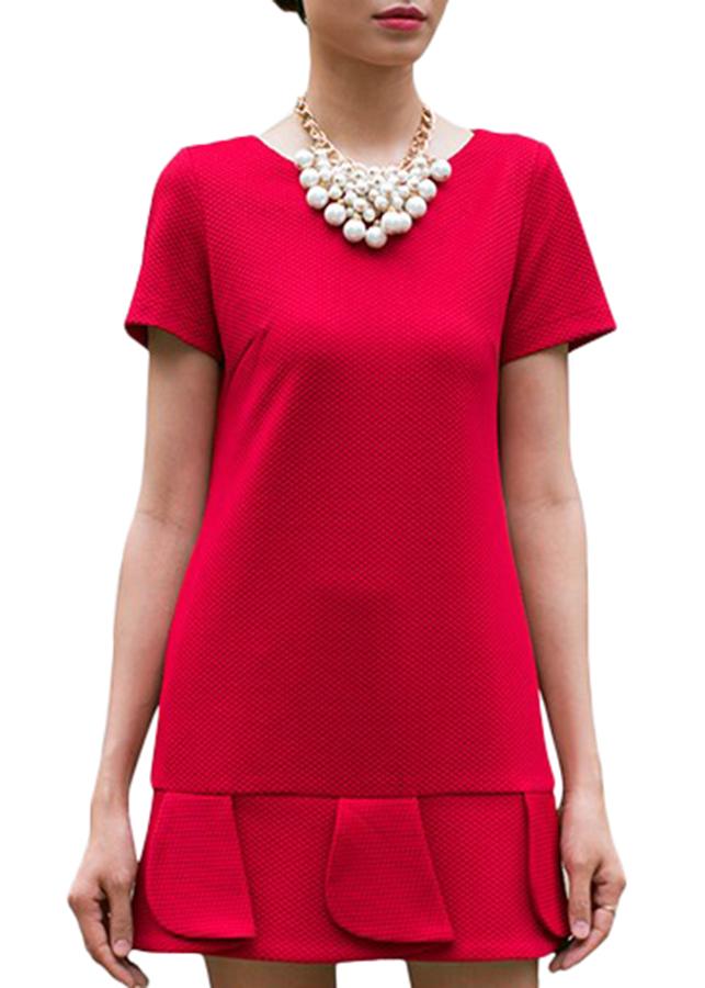 Đầm Đuôi Cá Tùng Xếp Lớp Hanali - Đỏ