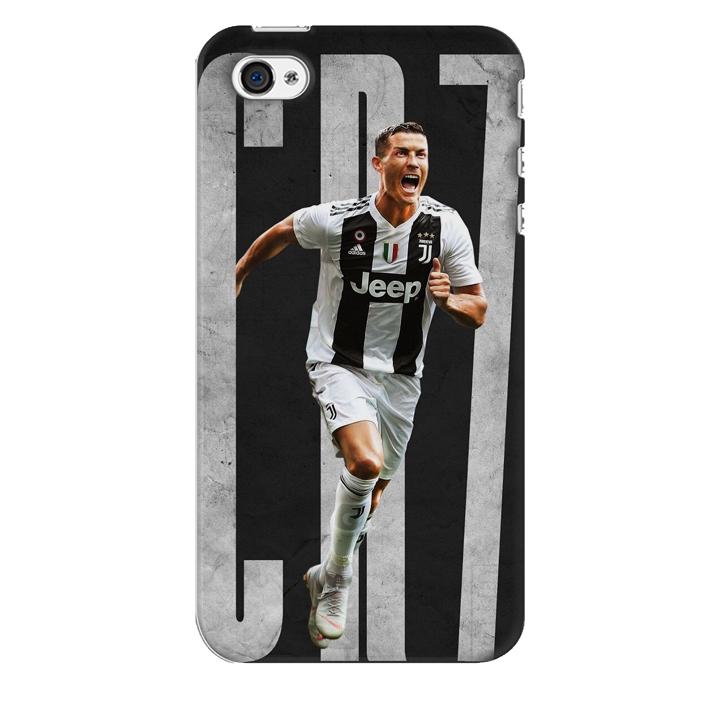 Ốp lưng nhựa cứng nhám dành cho iPhone 4S in hình Ronaldo