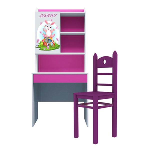 Bộ Bàn Học Có Giá Sách Hình Bunny IBIE CSBUNM08 (80cm)