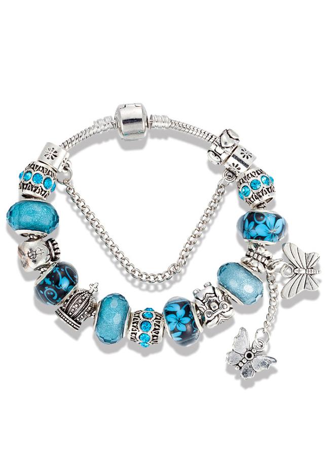 Vòng tay nữ charm cao cấp xanh đính đôi bướm trắng VCH04 - 778545 , 2405431742099 , 62_11417212 , 250000 , Vong-tay-nu-charm-cao-cap-xanh-dinh-doi-buom-trang-VCH04-62_11417212 , tiki.vn , Vòng tay nữ charm cao cấp xanh đính đôi bướm trắng VCH04