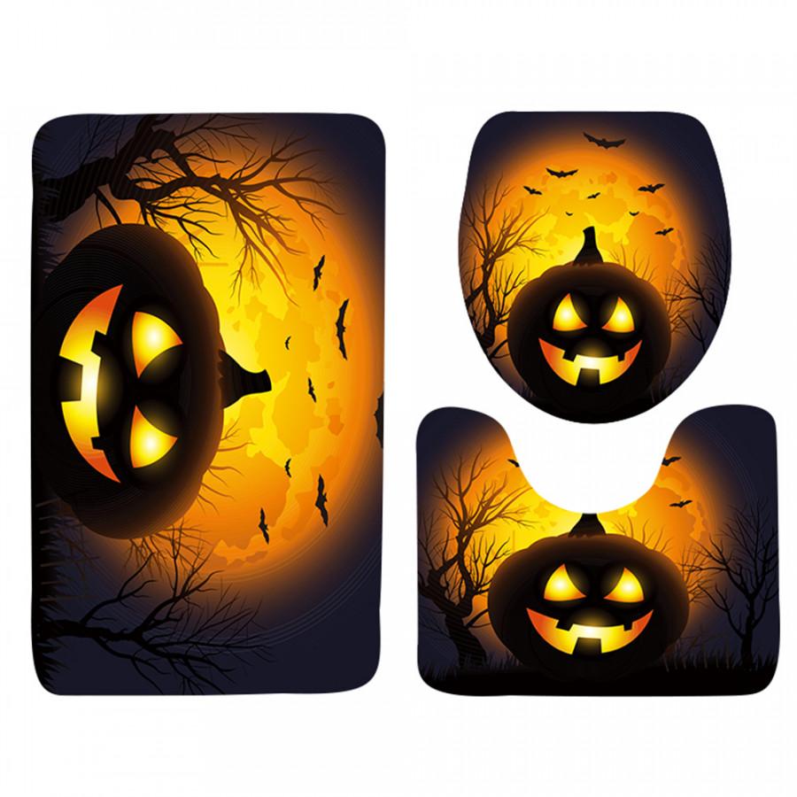 Bộ 3 Thảm Trang Trí Nhà Tắm Chủ Đề Halloween