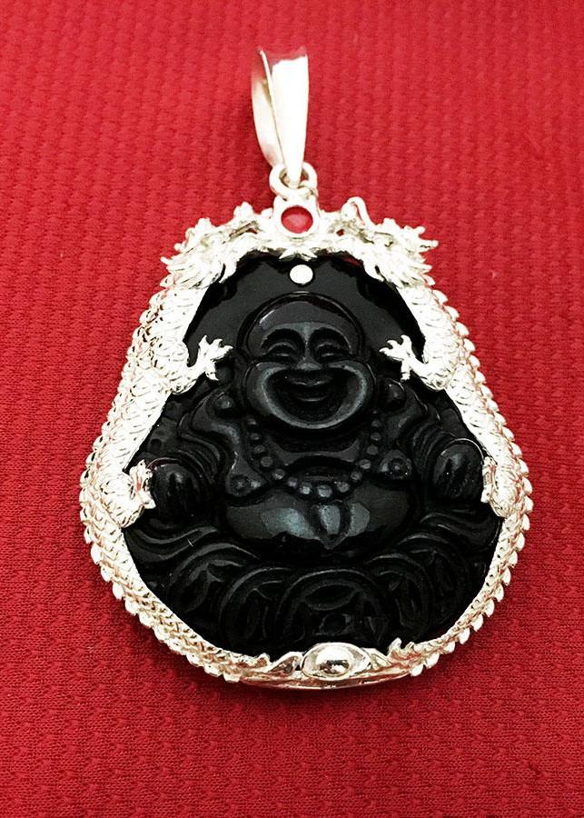 Mặt dây chuyền nam Di Lạc đá obsidian màu đen bọc đôi rồng bạc ta cao cấp trang sức Bạc QTJ - MDNA83  (Đen) - 1890370 , 1175530252584 , 62_14473649 , 599000 , Mat-day-chuyen-nam-Di-Lac-da-obsidian-mau-den-boc-doi-rong-bac-ta-cao-cap-trang-suc-Bac-QTJ-MDNA83-Den-62_14473649 , tiki.vn , Mặt dây chuyền nam Di Lạc đá obsidian màu đen bọc đôi rồng bạc ta cao cấp