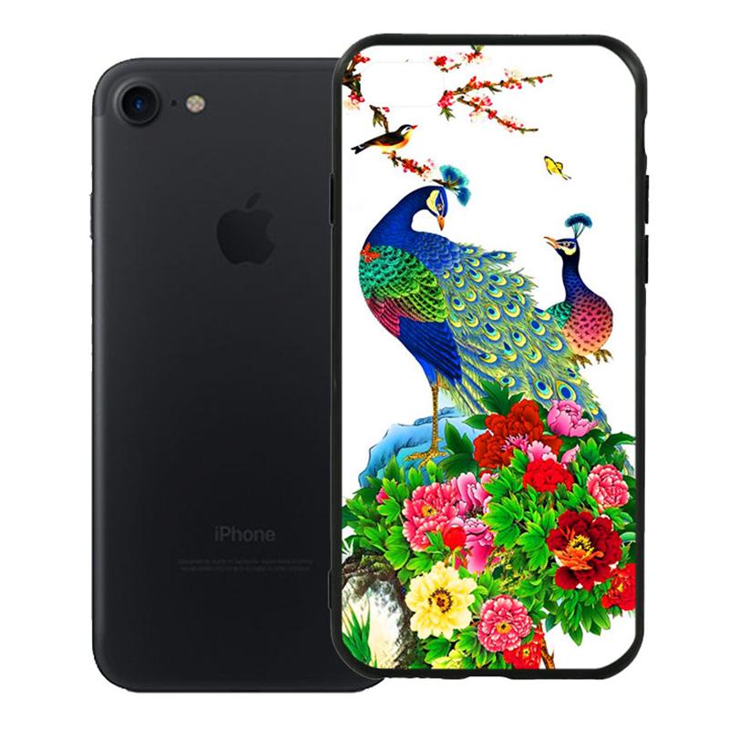Ốp Lưng Viền TPU Cao Cấp Dành Cho iPhone 7 - Chim Công