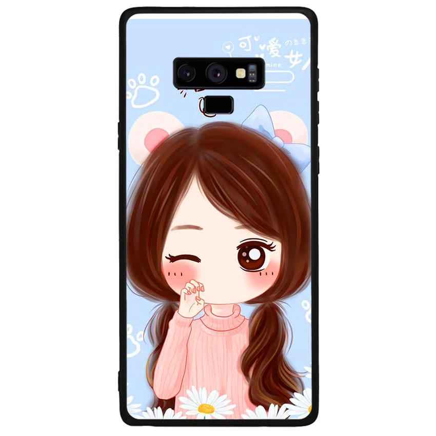 Ốp lưng viền TPU cao cấp cho điện thoại Samsung Galaxy Note 9 -Baby Girl
