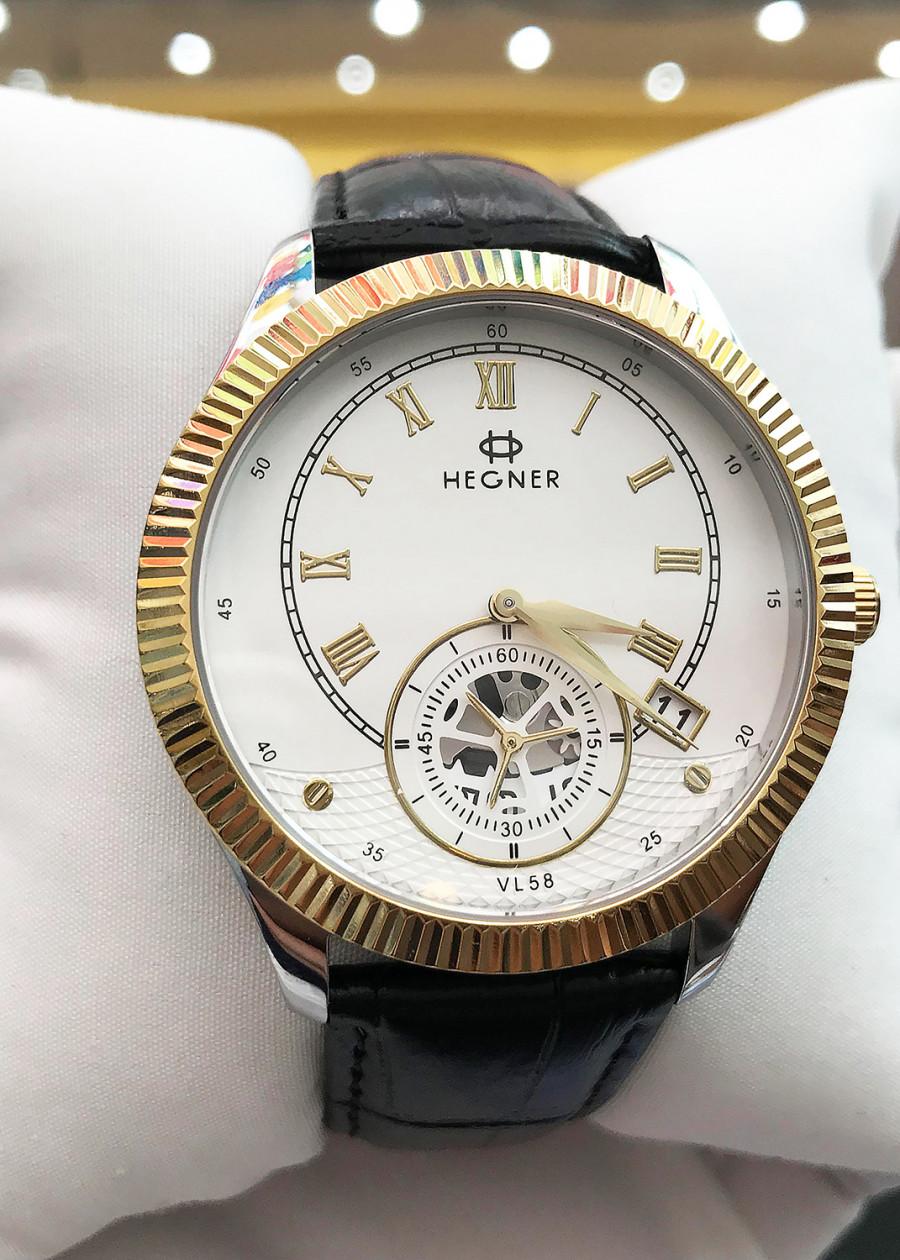 Đồng hồ nam Hegner HW-5046MCWH [Full Box] - Kính Sapphire, chống xước, chống nước - Dây da cao cấp