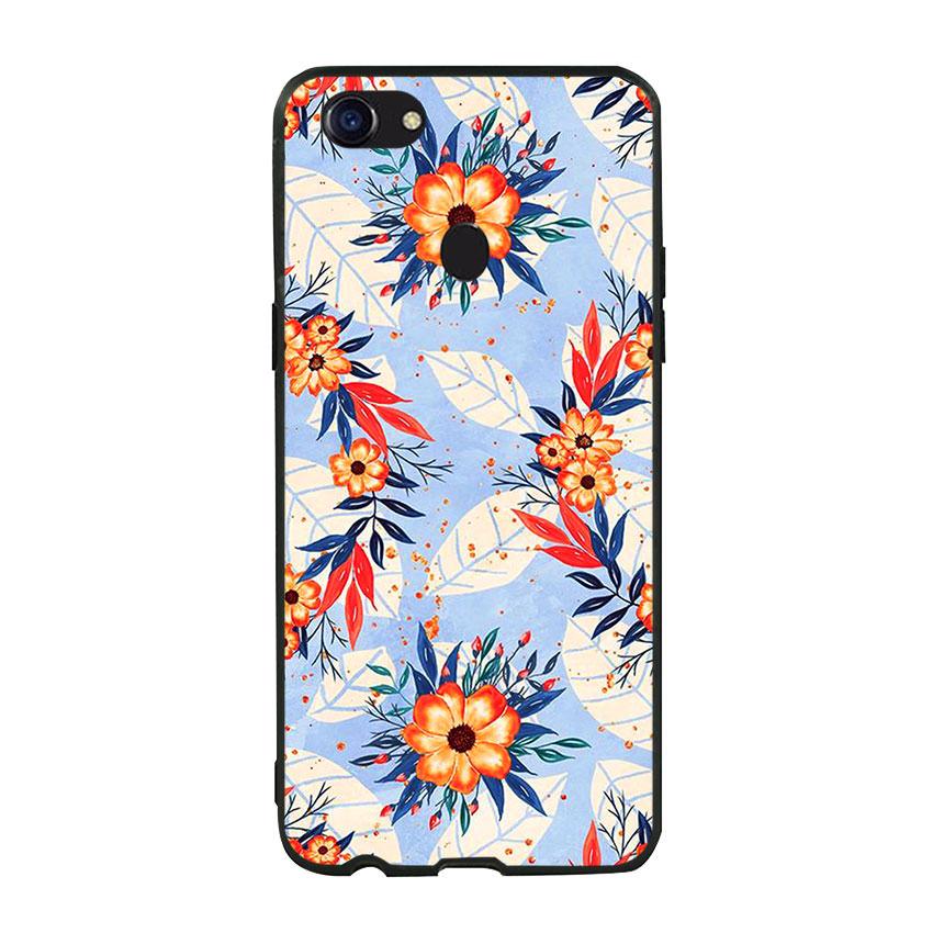 Ốp lưng viền TPU cho điện thoại Oppo F5 - Flower 16