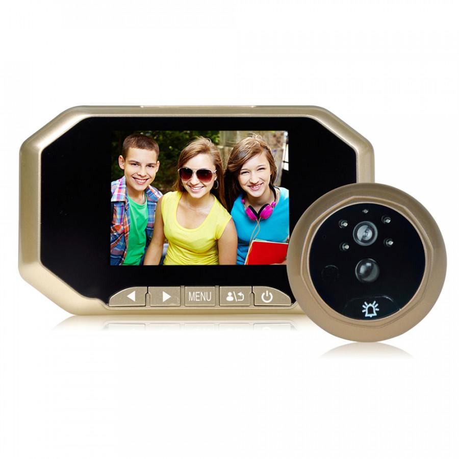 Bộ Chuông Cửa Màn Hình 3.5 inch LCD HD/Camera Hồng Ngoại Xoay 120 Độ