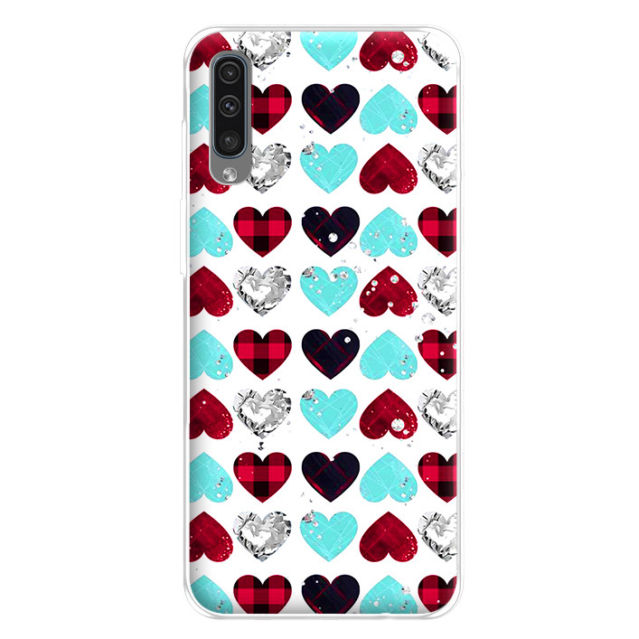 Ốp lưng dẻo cho điện thoại Samsung Galaxy A50 - 224 0099 HEART07