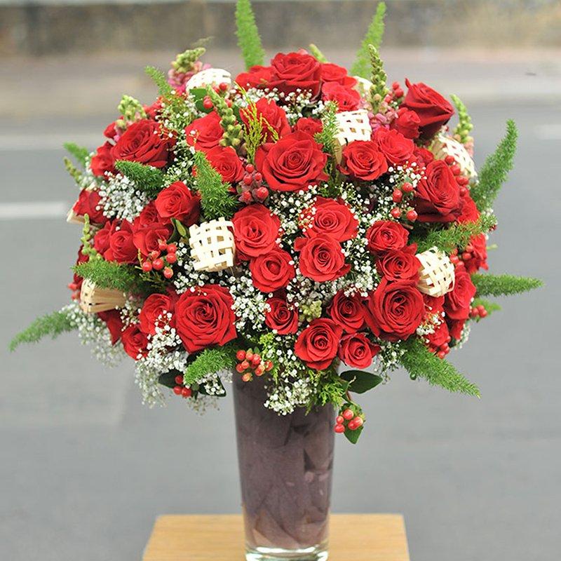 Bình Hoa Tươi -Red Roses 5245