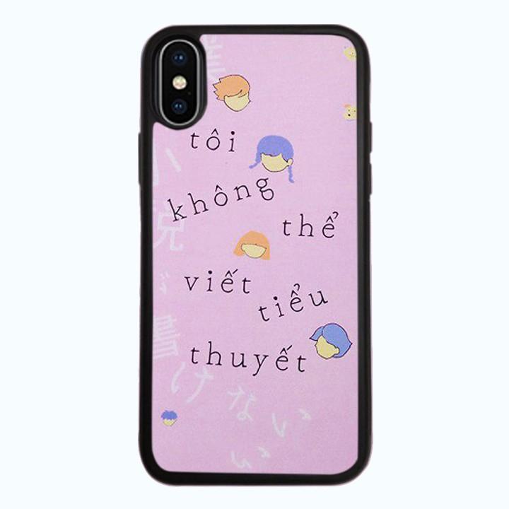 Ốp Lưng Kính Cường Lực Dành Cho Điện Thoại iPhone X Tiểu Thuyết