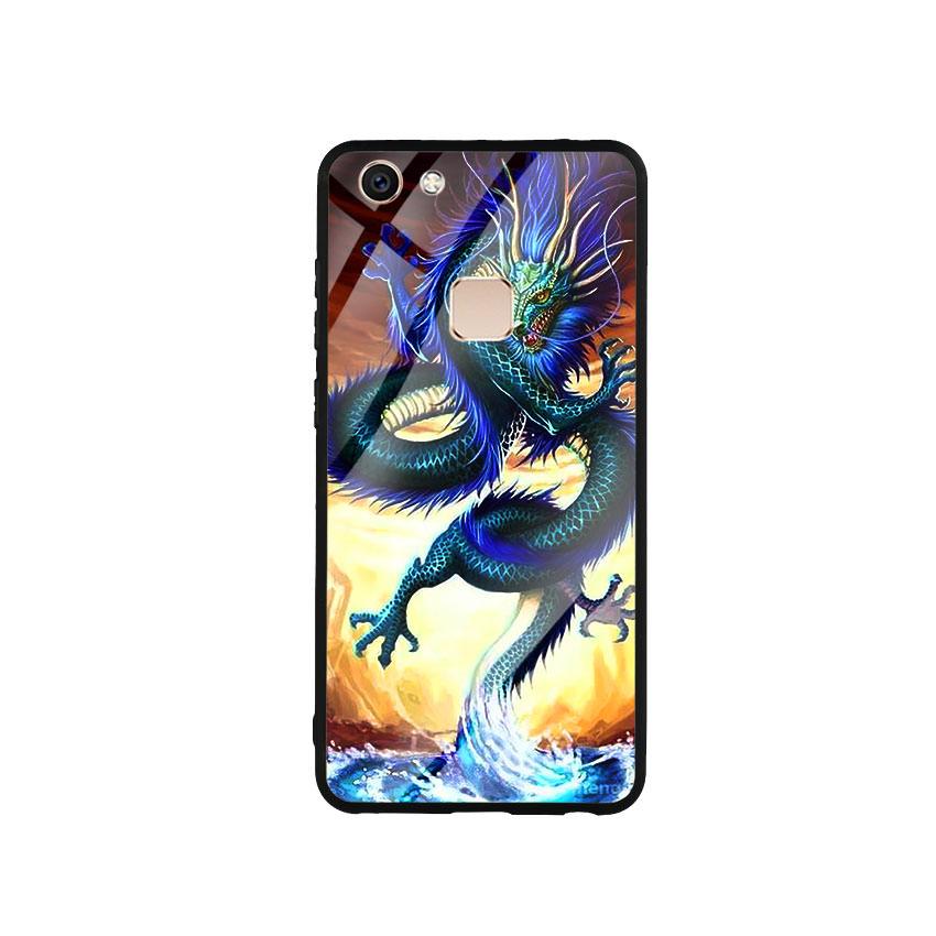 Ốp Lưng Kính Cường Lực cho điện thoại Vivo V7 - Dragon 08