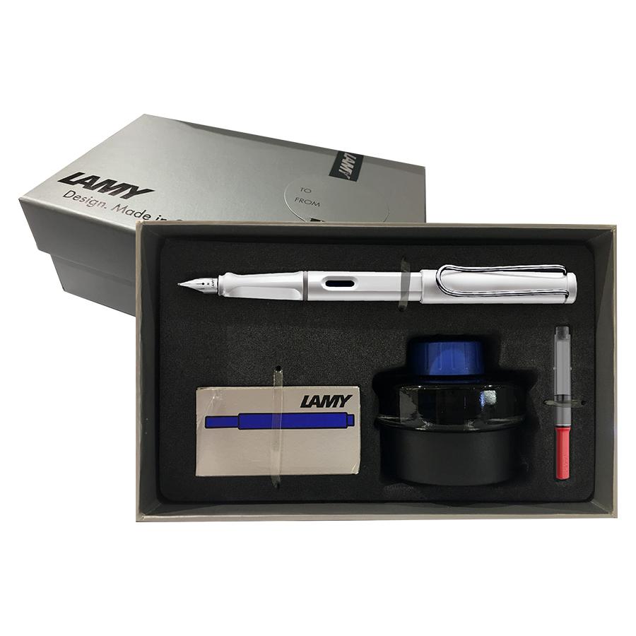 Bộ Lamy Safari Gift Set Combo 4 In 1 (White) - Bút Ngòi M 0.7 mm
