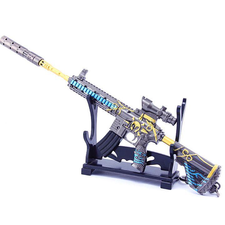 Móc khóa game PUBG - M416 Hải Tặc + giá đỡ mô hình - 20cm