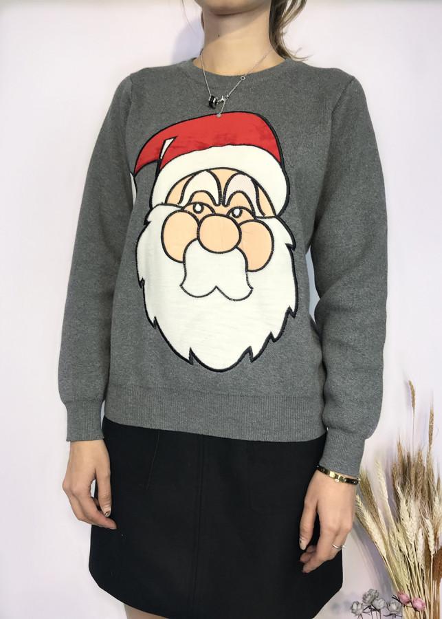 Áo len nữ thêu hình ông già Noel - Freesize
