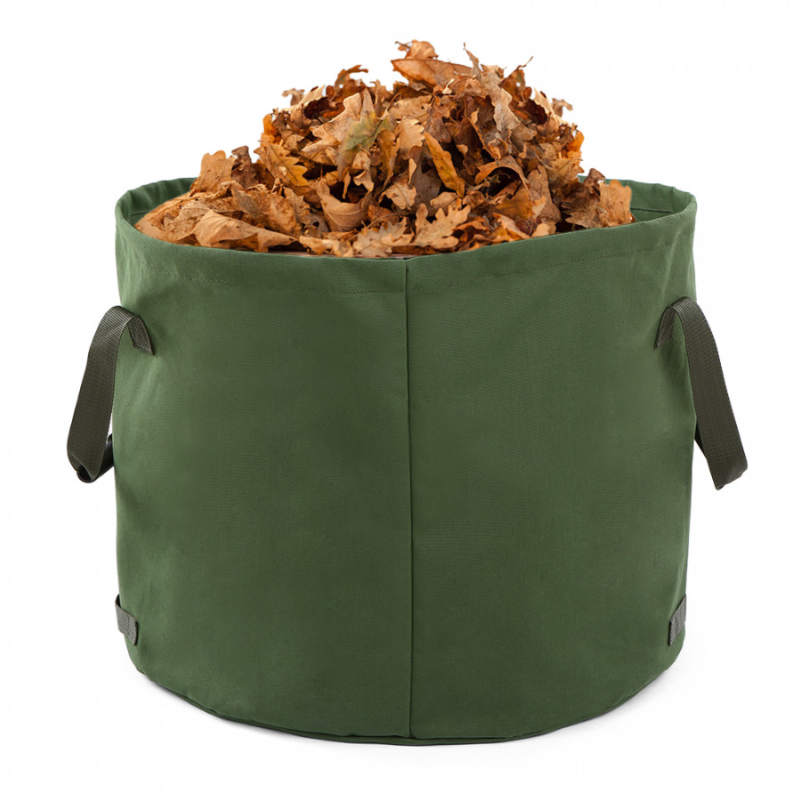 Portable Canvas Yard Waste Bag Garden Lawn Leaf Bags Containers