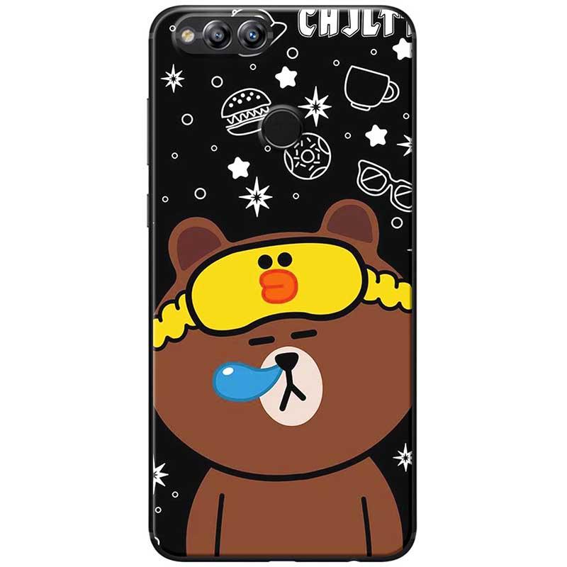 Ốp lưng dành cho  Honor 7x  mẫu Gấu nâu ngủ