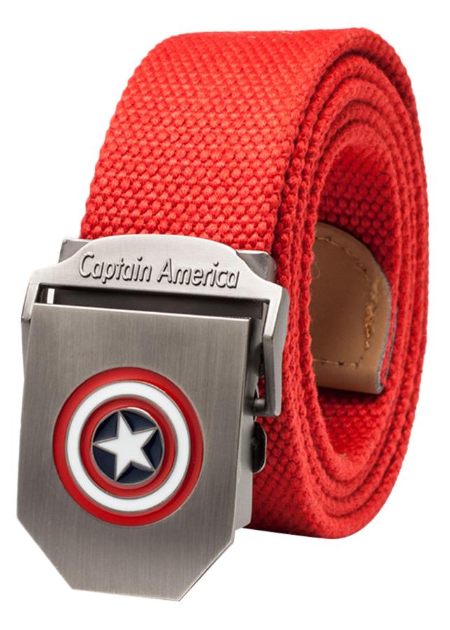 Thắt Lưng Vải Dù Nữ Mặt Khoá Hợp Kim Mặt Captain America - Màu 6