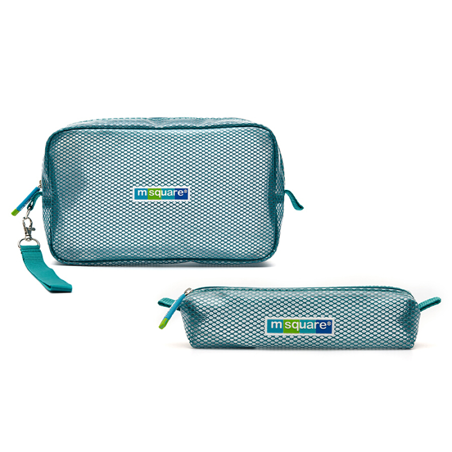 m square wash storage bag waterproof towel bag tooth bag package set travel essential bath bag toothbrush bag lake blue
