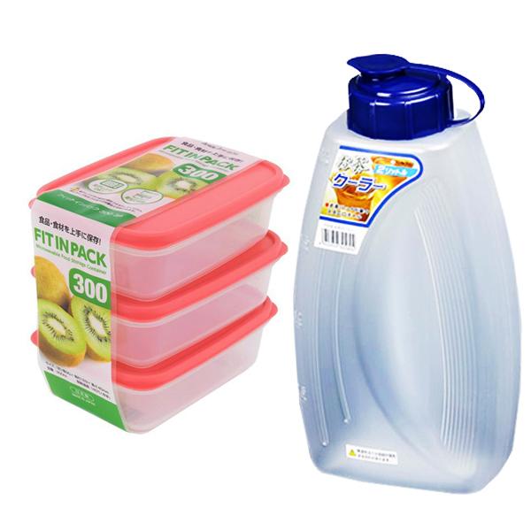 Combo 3 hộp nhựa đựng thực phẩm Fitin Pack nắp dẻo + bình đựng nước 2L nội địa Nhật Bản - 1219698 , 8469498370248 , 62_7241449 , 193600 , Combo-3-hop-nhua-dung-thuc-pham-Fitin-Pack-nap-deo-binh-dung-nuoc-2L-noi-dia-Nhat-Ban-62_7241449 , tiki.vn , Combo 3 hộp nhựa đựng thực phẩm Fitin Pack nắp dẻo + bình đựng nước 2L nội địa Nhật Bản