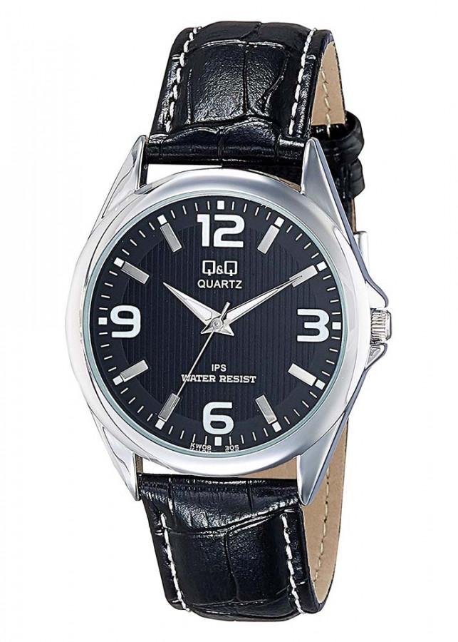 Đồng hồ nam QQ Citizen KW08J305Y dây da thương hiệu Nhật Bản