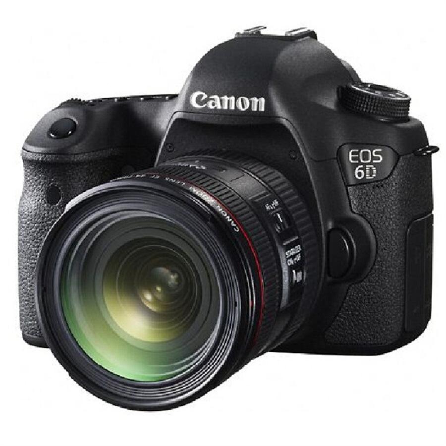 Máy Ảnh Phản Xạ Ống Kính Đơn Canon EOS 6D (Ống Kính EF 24-70mm f / 4L IS USM)