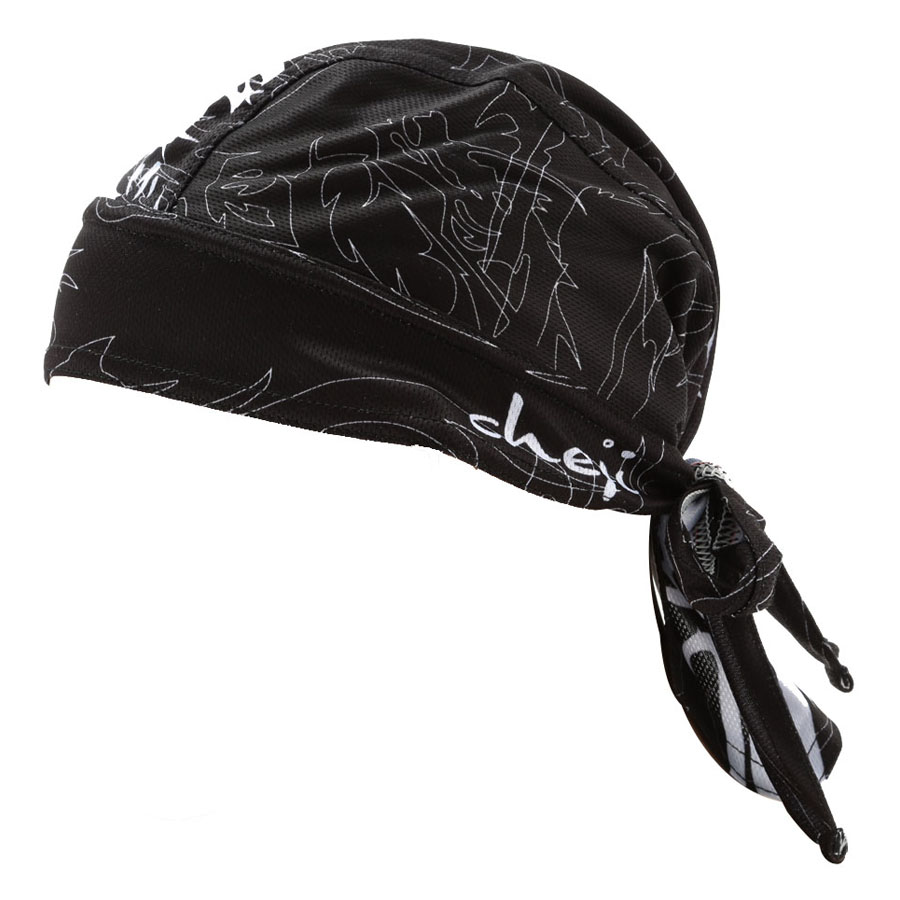 Men Black Outdoor Sports Bicycle Breathable Hat Quick-dry Bike Cycling Headscarf Pirate Scarf Headband - Black