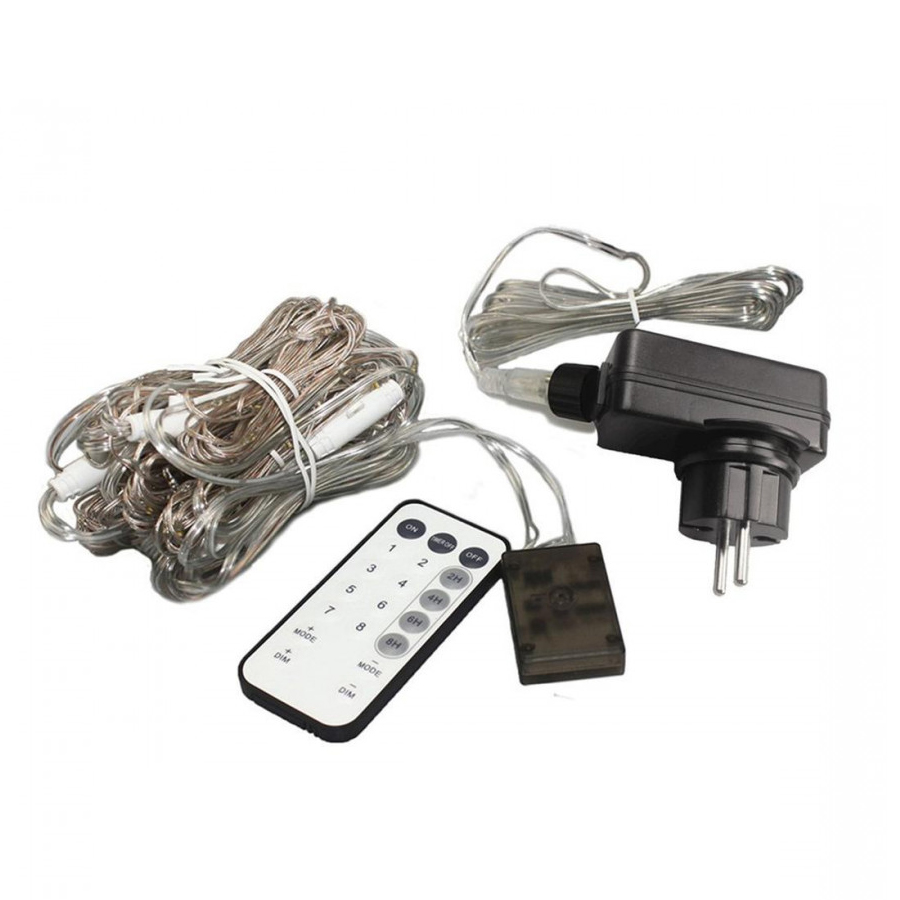 Plug - In Remote Control Curtain Lamp 3X3 M 300 Lamp White Ou Gui 220V
