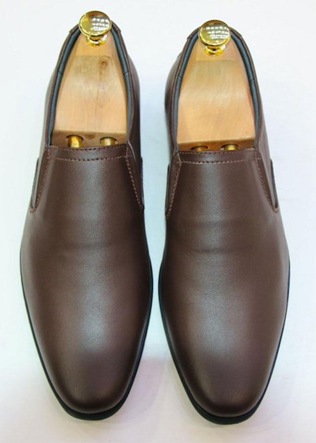 Giày tây nam lười da cao cấp siêu mềm màu nâu trơn GMN2132