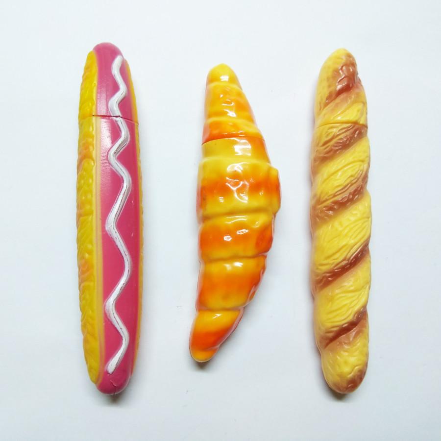 Bộ 3 Bút Bi Kiểu Dáng Hotdog - Bánh Xu - Bánh Mì
