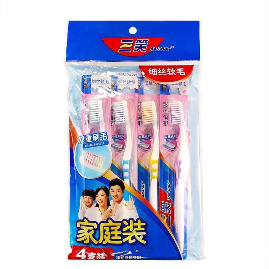Set Bàn Chải Đánh Răng Lông Tơ Mềm Three Laughs (4 Cái) - 1052574 , 2661250745790 , 62_3424607 , 77000 , Set-Ban-Chai-Danh-Rang-Long-To-Mem-Three-Laughs-4-Cai-62_3424607 , tiki.vn , Set Bàn Chải Đánh Răng Lông Tơ Mềm Three Laughs (4 Cái)
