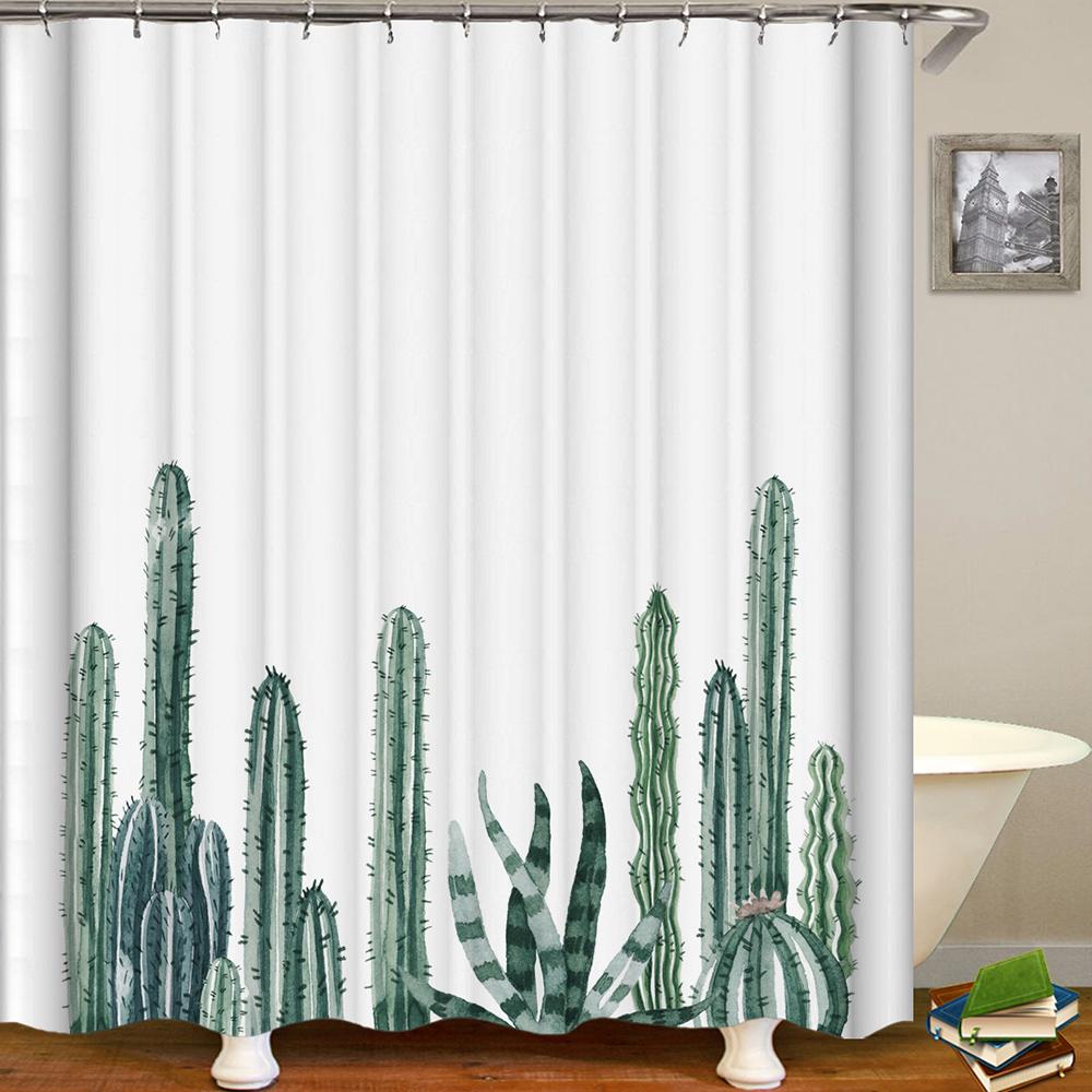 "Shower Curtain Flowers Trees Print Blackout Curtains Waterproof Mildew-proof Bathroom Curtain 71""x71"""