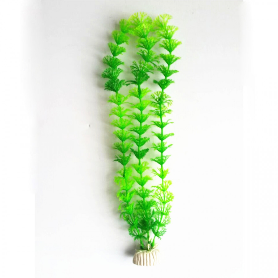 "15"" Artificial Aquarium Plastic Grass Green Water Grass Fish Tank Ornament"