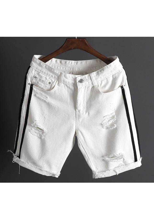 Quần Jeans Bò Nam Ngắn Short Lửng Ngố