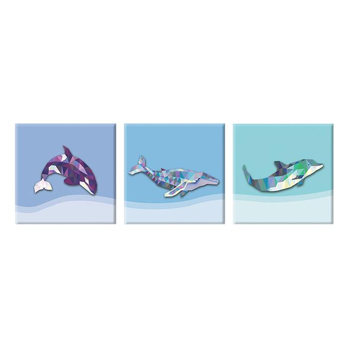 """Bộ 3 Tranh Canvas """"Kình Ngư Vượt Biển"""" - W111"""