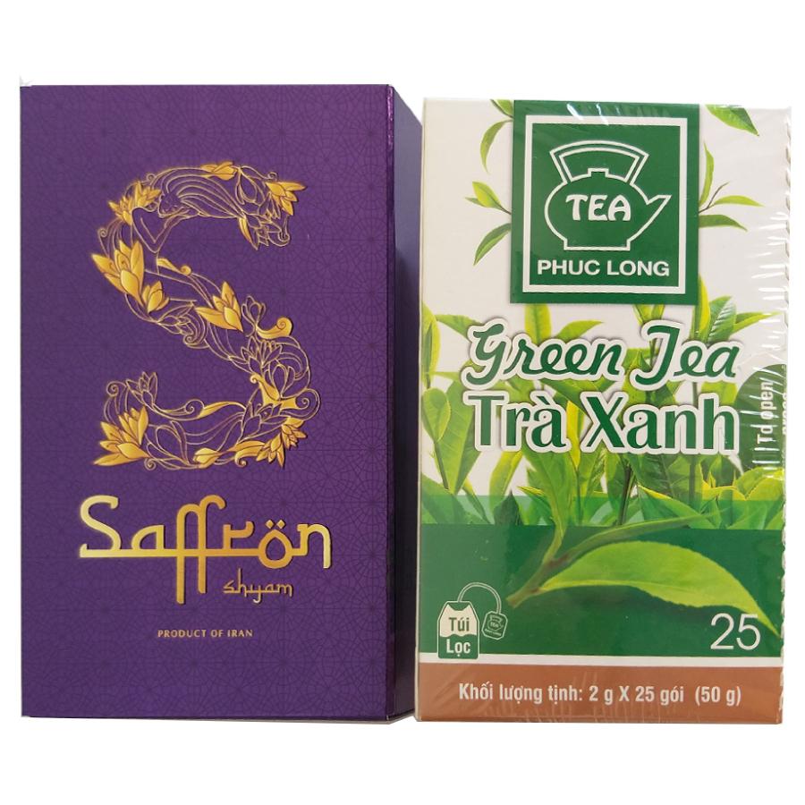 Nhụy Hoa Nghệ Tây Saffron Shyam hộp 1 g tặng 1 hộp trà Xanh Phúc Long 25 gói - 807364 , 6923876494886 , 62_14497057 , 390000 , Nhuy-Hoa-Nghe-Tay-Saffron-Shyam-hop-1-g-tang-1-hop-tra-Xanh-Phuc-Long-25-goi-62_14497057 , tiki.vn , Nhụy Hoa Nghệ Tây Saffron Shyam hộp 1 g tặng 1 hộp trà Xanh Phúc Long 25 gói